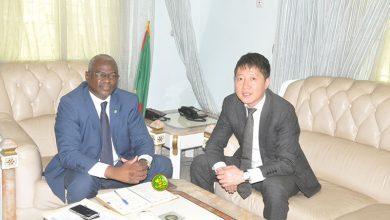 """صورة وزير التعليم العالي يستقبل مدير فرع """"ZTE"""" الصينية بإفريقيا"""