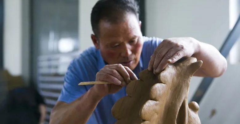 صورة نحت الطوب فن رائع يساعد على القضاء على الفقر في نينغشيا