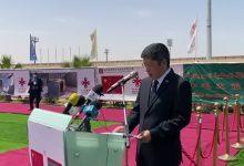 صورة رئيس الجمهورية يضع الحجر الأساس لمشروع نظام الأمن والمراقبة العامة لمدينة نواكشوط