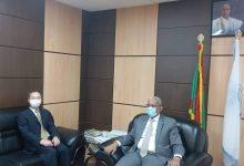 صورة رئيس حزب الاتحاد يلتقي المستشار الأول في السفارة الصينية ببلادنا